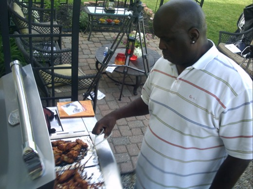 "James ""Buster"" Douglas talked about his diabetes and the cookbook he co-authored. It contains anecdotes about his experiences and favorite Diabetic-friendly recipes. He also grilled for us, chicken with his very own secret sauce."