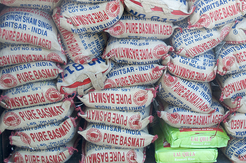 Bags of Basmati rice photo: robtain @flickr