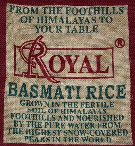 Basmati rice from the Himalayas photo: voidmstr @flickr