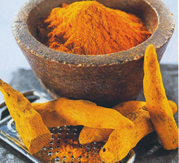 Turmeric roots and Power