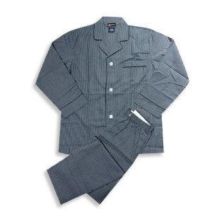 Hanes striped broadcloth in charcoal or black