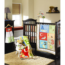ABC-123 4 Piece Crib bedding set available at Walmart.com. Photo credit: Walmart.com