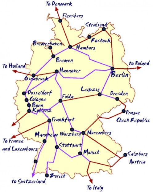 German Rail Map