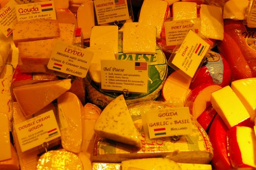 Lots of cheeses photo: Rhett Sutphin @flickr