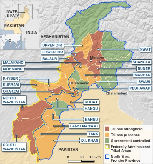 Federally Administered Tribal Area on the Afghanistan/Pakistan border