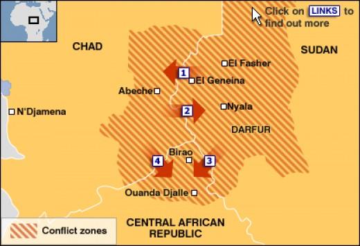 Porous borders of the Darfur Region, Africa