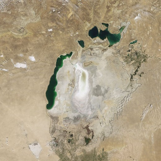 Aral Sea, 2009 Image courtesy Wikimedia Commons