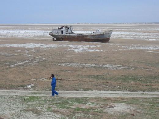 Orphaned Aral Ship Image courtesy Wikimedia Commons