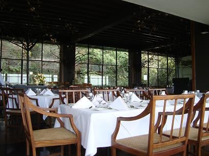 One of the dining areas in the hotel