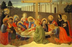 Hidden Symbolism in The Lamentation of Christ by Mary in Paintings  by Fra Angelico