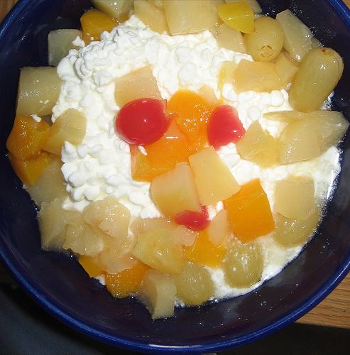 Cottage Cheese with Fruits (Photo courtesy by cupcakes2 from Flickr.com)