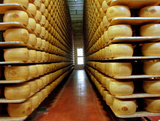 Parmigiano Reggiano Factory in Modena, Italy - This is a file from the Wikimedia Commons.