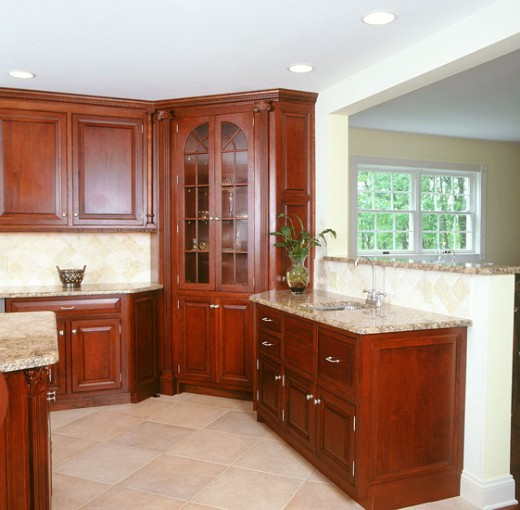 Cherry Royal Kitchen Cupboards: Home Improvement I Love Bathroom Cabinets