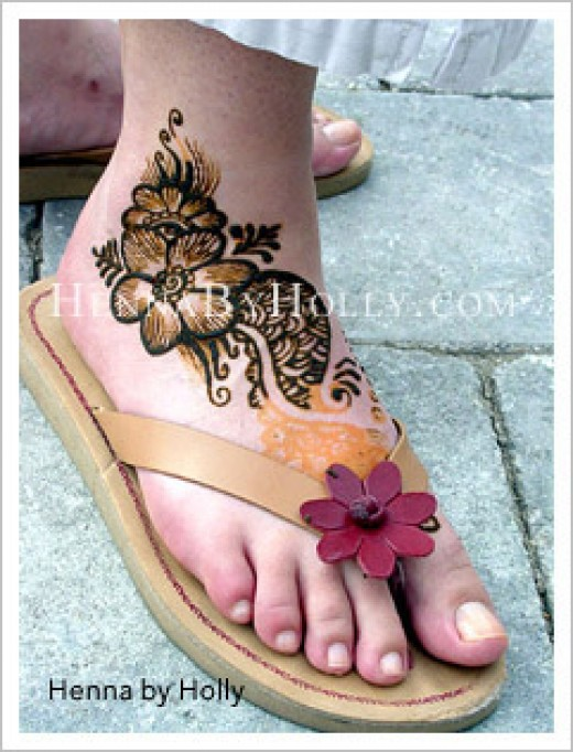 Henna Feet Decoration