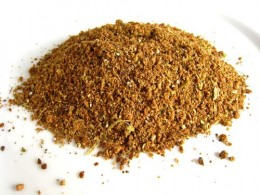Garam masala grated and grinded pic