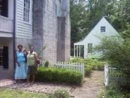 Ola and Van Pate standing by museum.