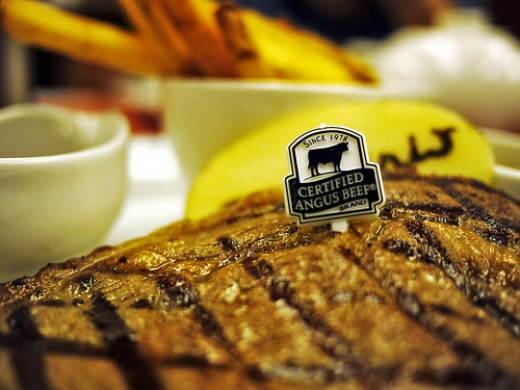 Mouthwatering Angus Beef Steak photo: Daniel Y. Go @flickr
