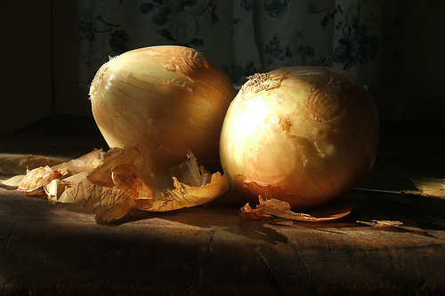 Yellow Onions in Morning Light - by claudette 12, via Flickr