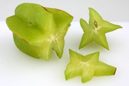 Star Fruit got its name for what it looks like cut sideways.