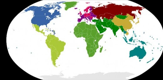 Zones for Determining International Phone Dialing Codes