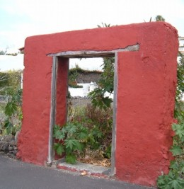 Mysterious doorway to nowhere