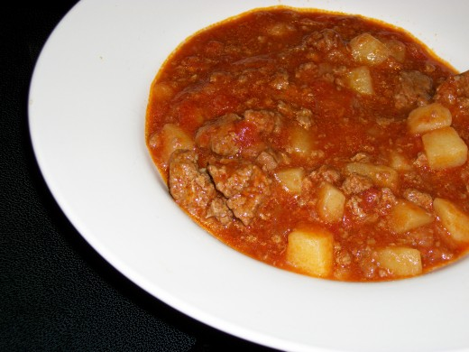 Hamburger Stew.  Personal Photo.