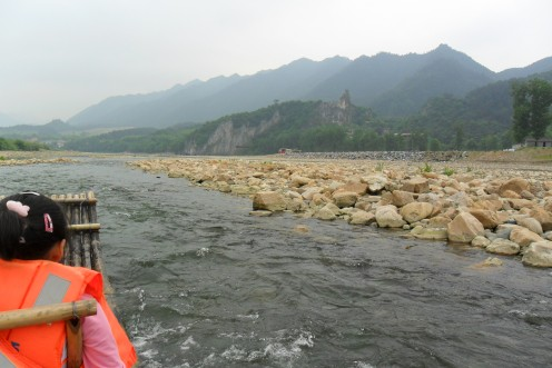 Approaching the rapids