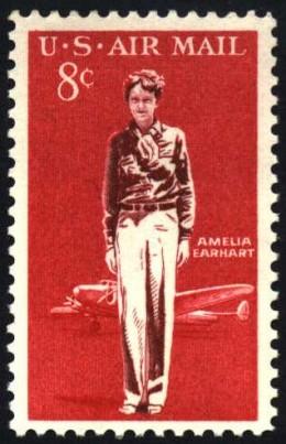 Amelia Earhardt - US Postage Stamp Image
