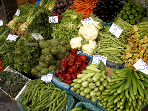 Vegetables.  Image by Hans Hillewaert, Wikimedia Commons