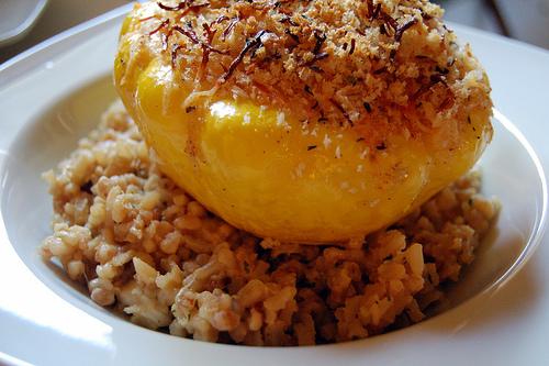 stuffed scalloped squash