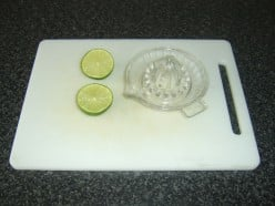 Preparing to Juice a Fresh Lime