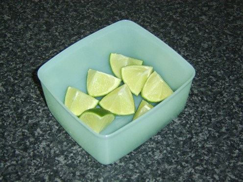 Preparing to Freeze Fresh Limes