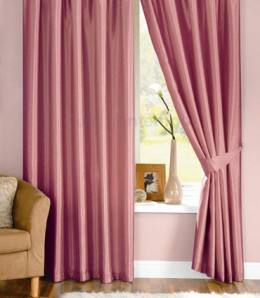 Eyelet Curtains - Silk - Pink Curtains