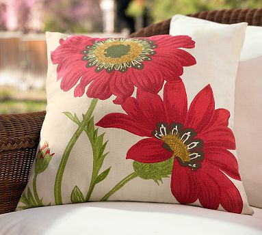 The large scale poppies on this pillow definitely give it a more modern feel; it can even be slightly masculine.