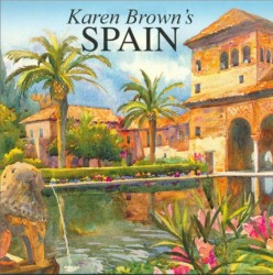 Karen Brown's Spain 2006. This was the book ~ the cover image, really ~ which drew me to find out more about Karen Browm, her books and her artists.