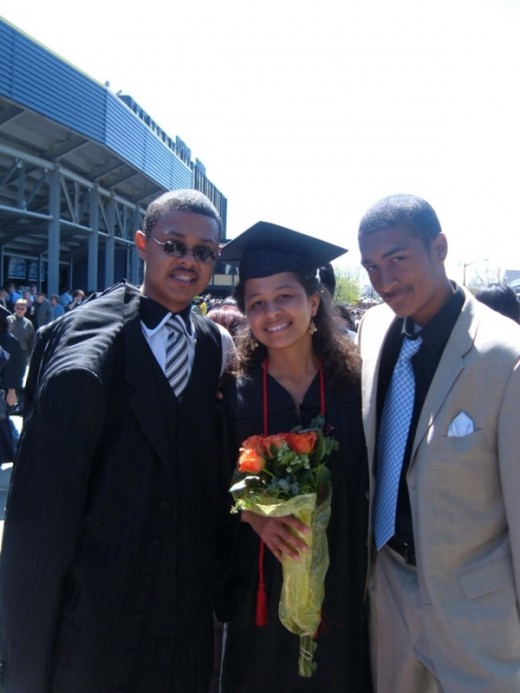 Rachael and her brothers at U of M graduation