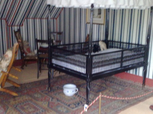 The paintwork in the nursery has a tented effect, reproduced from when these rooms were the Batchelors' quarters at the top of the house!
