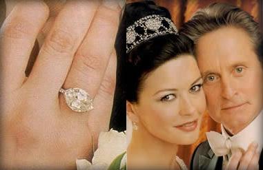 Celebrity Catherine Zeta Jones Engagement Ring: 10 carat marquise cut worth 2 million