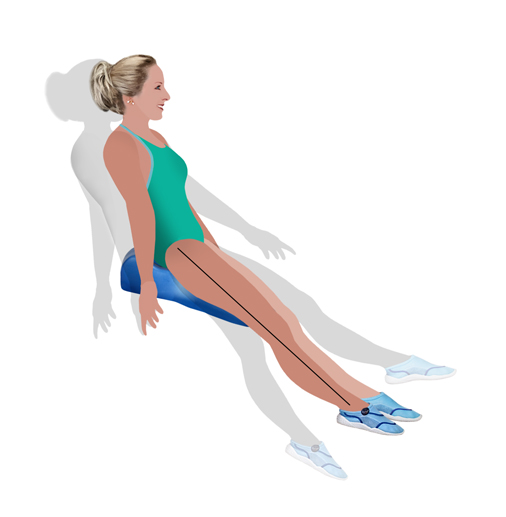 seated balance with the innovative swim board