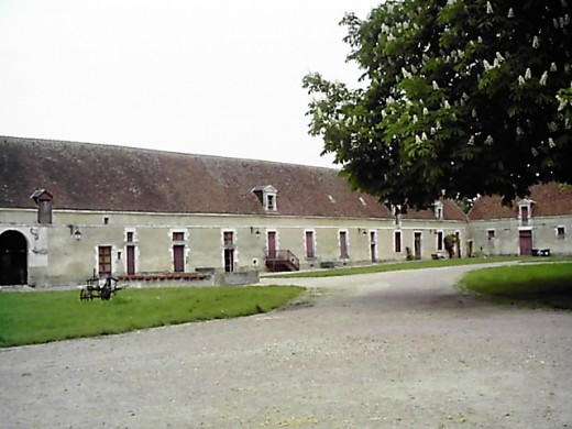 The farm buildings at Chateau d'Argy