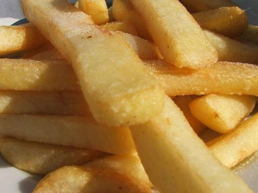 Most food chains fry with vegetable oil.
