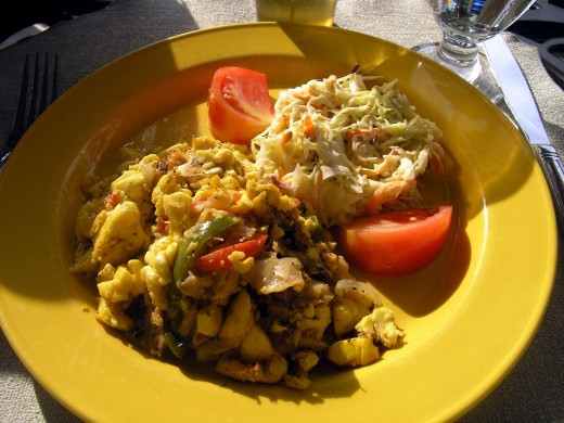 Salted fish and ackee