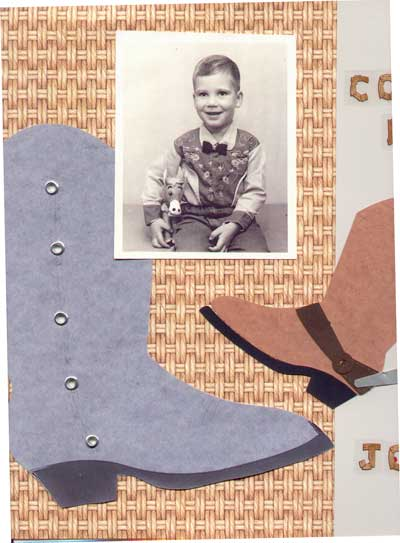 Scrapbook Page Showing Young Boy in Cowboy Outfit