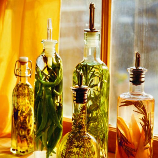 Herb flavored vinegars