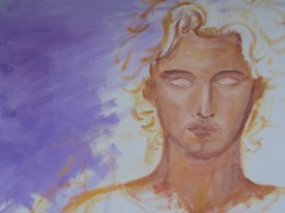 Archangel Michael by Violet Flame - rough outline