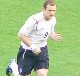 Wayne Rooney on international duty for England