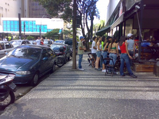 Portuguese pavement next to Paulista Av., So Paulo