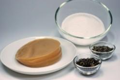 Kombucha mushroom, sugar and black tea