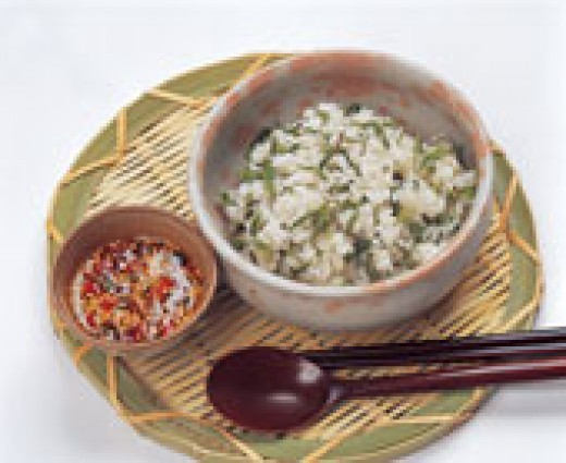 RICE IN GREEN TEA SOUP