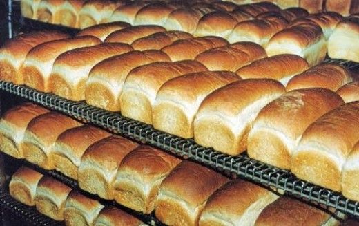 Loaves with potassium bromate